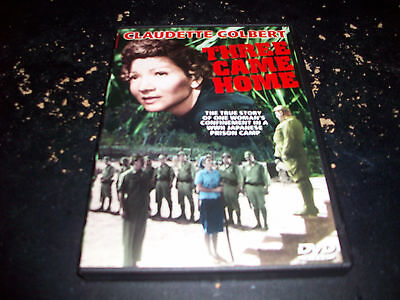 CLASSIC WAR MOVIE: THREE CAME HOME!! USED & IN EXCELLENT CONDITION!!!
