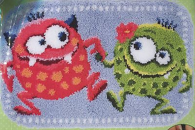 Knüpfpackung Knüpfen Teppich 70x46 cm tanzende Monster dancing monsters knopen