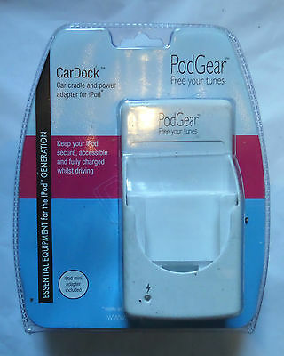iPOD CARDOCK BY PODGEAR CAR CRADLE AND POWER ADAPTER FOR iPODS
