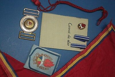Rare blue braids Communiste Boy Scouts Pionier Patch, Belt, note grade tie badge