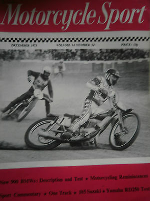 MOTORCYCLE SPORT MAGAZINE 12/73 IVAN MAUGER,s JAWA 500 AT LYDDEN COVER
