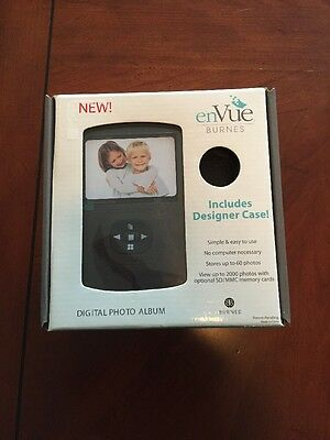 ENVUE BURNES DIGITAL PHOTO ALBUM NEW IN BOX