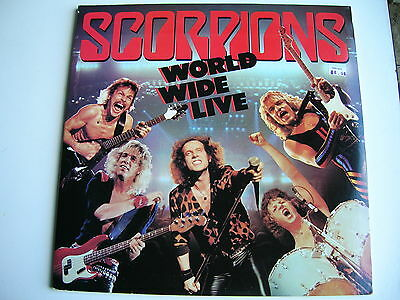 2 LPs IMPORT on EMI HARVEST LABEL by THE SCORPIONS - WORLD WIDE LIVE - NEAR MINT