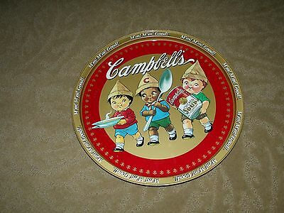 vintage campbells soup round  tin tray.
