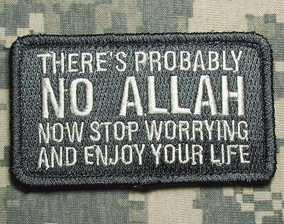 Probably No Allah Stop Worrying Isis Jihad Isaf Us Acu Light Hook Morale Patch