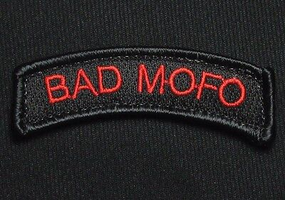 Bad Mofo Tab Motherf**ker Us Army Usa Military Black Ops Red Hook & Loop Patch