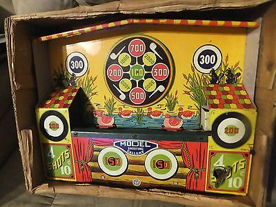 """MECHANICAL SHOOTING GALLERY"""" Made by Wyandotte Toys in the 1950s"""