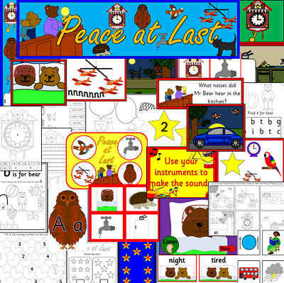 PEACE AT LAST - story resource on CD- EYFS, KS1, Letters and Sounds Phase 1