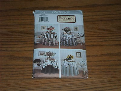Butterick Waverly Pattern 3341 UNCUT Home Decorating Table Treatments Chair Back