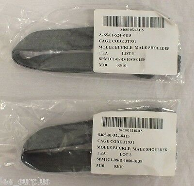 NEW LOT OF 2 ACU QUICK RELEASE STRAPS w/ MALE BUCKLE MOLLE SHOULDER STRAPS NIB