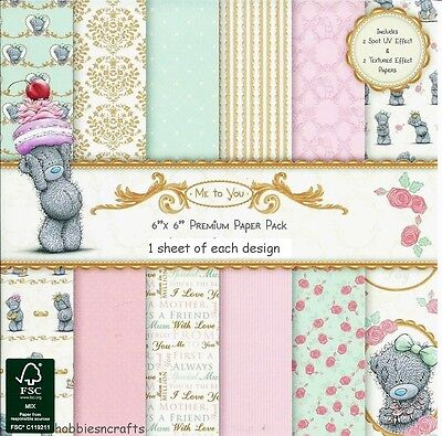 Dovecraft Me To You Mother's Day  6 X 6 Sample Pack 1 Of Each Design - 12 Sheets