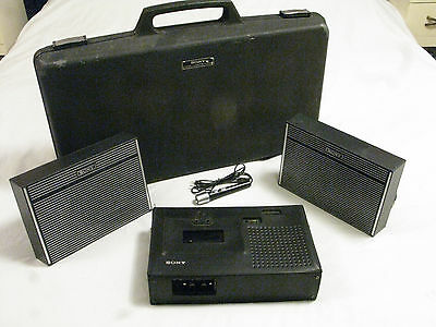 Vintage Sony Stereo Cassette-corder TC-126 Bundle with Mic & Case PROJECT Drag