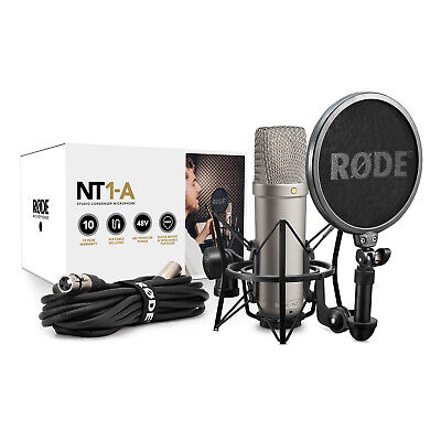 New RODE NT1-A Cardioid Condenser Microphone Bundle Recording Package