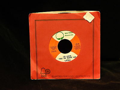 Vintage Record, LOBO-I'D LOVE YOU TO WANT ME & AM I TRUE TO MYSELF, 45rpm, 1972
