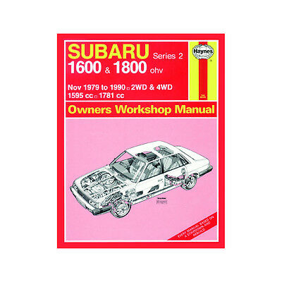 Subaru 1600 1800 1.6 1.8 Petrol 1979-90 (up to H Reg) Haynes Manual Classic
