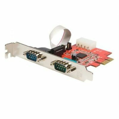 StarTech 2 Port Native PCI Express RS232 Serial Adaptor Card with 16950 UART Ser