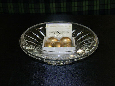 Vintage Cristal D'Arques Crystal Etoile Festives Collection Candle Bowl NEW 24%
