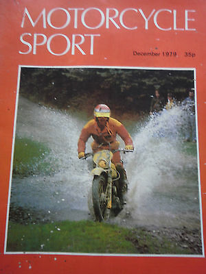 Motorcycle Sport Magazine 12/79 Suzuki Pe175 At The Welsh Trial Cover