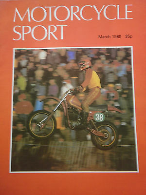 Motorcycle Sport Magazine 03/80 Geraint Jones On The Cee-Cee Maico Cover