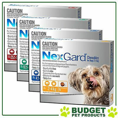 NEXGARD Nexguard For Dogs Flea and Tick medication/treatment 6 chews All sizes