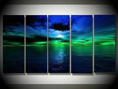 5PC/ MODERN ABSTRACT HUGE WALL ART OIL PAINTING ON CANVAS+ Frame