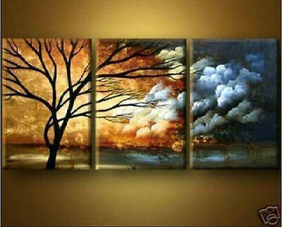 MODERN ABSTRACT HUGE WALL ART OIL PAINTING ON CANVAS+frame