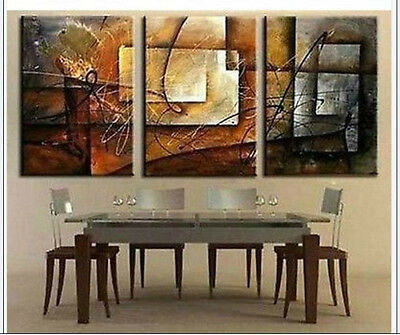 MODERN ABSTRACT HUGE WALL ART OIL PAINTING ON /CANVAS + framed