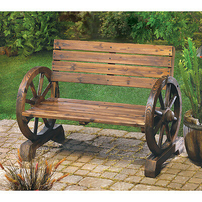 Wild West Country Wagon Wheel Bench