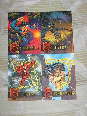 1996 DC FIREPOWER OUTBURST PREMIERE EDITION TOTALLY EMBOSSED UNCUT! PROMO SHEET!