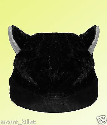 BLACK CAT ANIME KITTY GOTH RAVE COSPLAY CAP HAT for Children