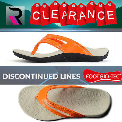 CLEARANCE PREMIUM FOOT BIO-TEC Women Orthotic Shoes Thongs Arch Support