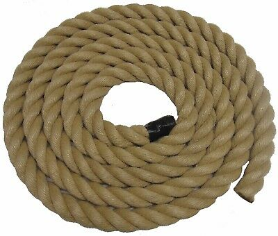 15MTS x 32MM THICK FOR GARDEN DECKING ROPE, POLY HEMP, HEMPEX, SYNTHETIC HEMP