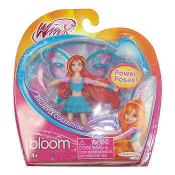 "WINX CLUB DOLL BLOOM BELIEVIX COLLECTION 3.75"" POWER POSES NIB"