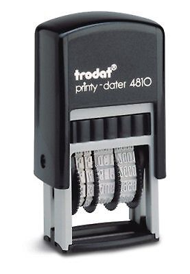 Small Date Stamp, Trodat 4810 Compact Self-Inking Date Stamp, Red Ink