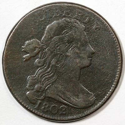 1802 S-228 R-2 1/000 Draped Bust Large Cent Coin 1c