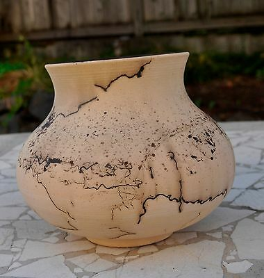hores hair pottery ceramic handmade one of a kind vase