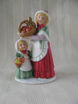 Home Interior Woman Lady with Basket of Apples Figurine Homco 5554 Figurine
