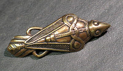 brooch fibula BRONZE Viking Medieval Celtic Germanic schonen style replica Raven