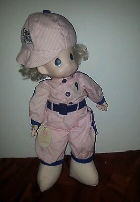 "☆PRECIOUS MOMENTS~""TRACEY"" #1047~ SOFTBALL PLAYER DOLL☆"