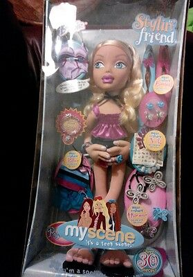 New in Box Barbie 2ft Tall My Scene Stylin' Friend! 2004 Mattel.