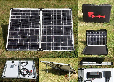 100W 12V Foldable Solar Panel Charging Kit with charge controller ship from