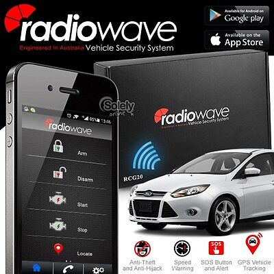 New RADIOWAVE GSM GPS Tracking Smartphone Control Alarm System Android & iPhone