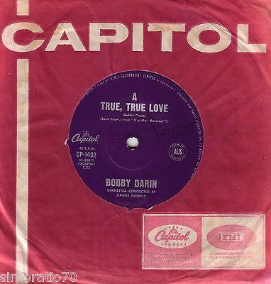 BOBBY DARIN A True, True Love / If A Man Answers 1962 OZ 45