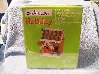 (new) CREATOLOGY HOLIDAY 3D FOAM KIT GINGERBREAD HOUSE