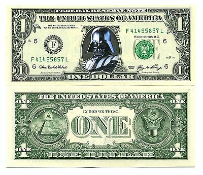 DARK VADOR - VRAI BILLET de COLLECTION 1 DOLLAR US ! STAR WARS C. Collector