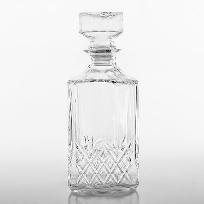 Glass Decanter for Spirits Whiskey, Brandy Cut Crystal Style