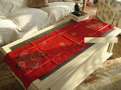 "Vintage Satin Table Runner/Scarf~17.7""x55"" item no 387"