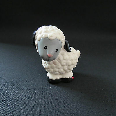 Fisher Price Little People White Sheep Farm Animal 1997 #4