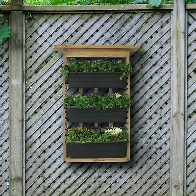 Hanging Planter Vertical Wooden Fence Rustic Shabby Trellis Gardening Patio Herb