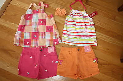 NWT Gymboree POPSICLE PARTY girls sz 5 6 ice cream shorts patchwork tops & bow
